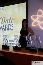 Award Model Andrea O'Campo at the 2010 Miami iDate Awards