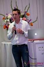 Chas McFeely (CEO of HuookChasUp.com) at the 2011 Beverly Hills Online Dating Summit and Convention