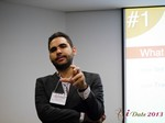 Marco Tulio Kehdi COO of Raccoon Marketing Digital speaking on Brazil Search  at iDate2013 Sao Paulo