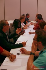 Speed Networking at the 2013 Online and Mobile Dating Business Conference in L.A.