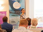 Gloria Diez Business Development From Wamba Speaking at the 12th annual UK iDate conference matchmakers and online dating professionals in London