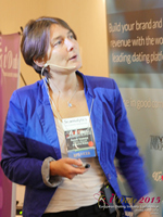 Pauline Tourneur General Manager Of Attractive World Speaking On The French Online And Mobile Dating Market at the 2015 London E.U. Mobile and Internet Dating Expo and Convention