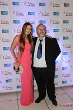 Media Wall Svetlana Mukha and Wayne May in Miami at the 2016 Online Dating Industry Awards