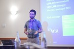 Taha Yasseri, Research Fellow in Computational Social Science from University of Oxford, presenting a statistical description of mobile dating communications. at the 2016 Londres Euro e Reino Unido Mobile and Internet Dating Expo and Convention